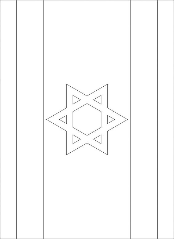 Israel Flag Coloring And Coloring Pages On Pinterest Israel Flag Coloring Page
