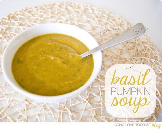 basil pumpkin soup