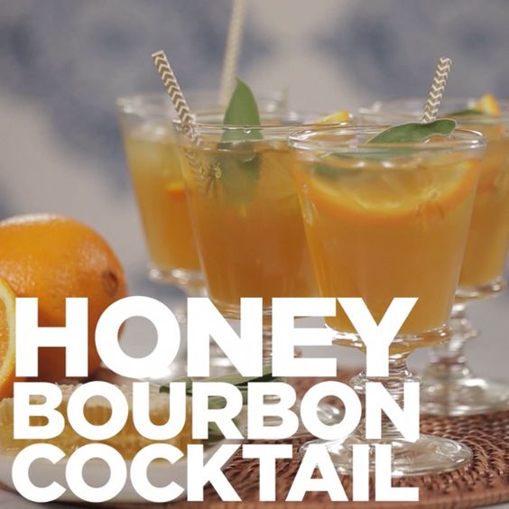 honey bourbon cocktail recipe party food pinterest