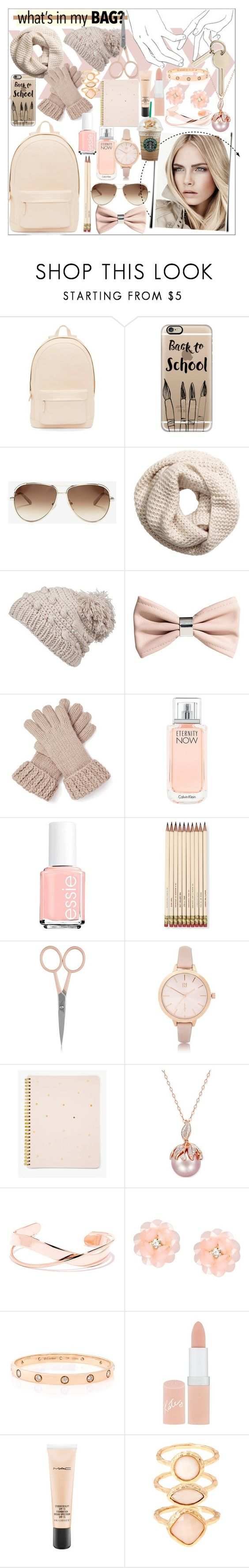"""Whats in my bag"" by elise2571 ❤ liked on Polyvore featuring PB 0110, Casetify, Chloé, H&M, prAna, Calvin Klein, Essie, Kate Spade, Anastasia Beverly Hills and River Island"
