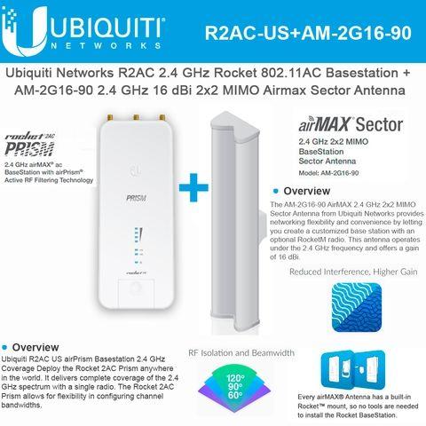 Ubiquiti Rocket 2ac Prism R2ac Us 2 4ghz Am 2g16 90 2 4 Ghz