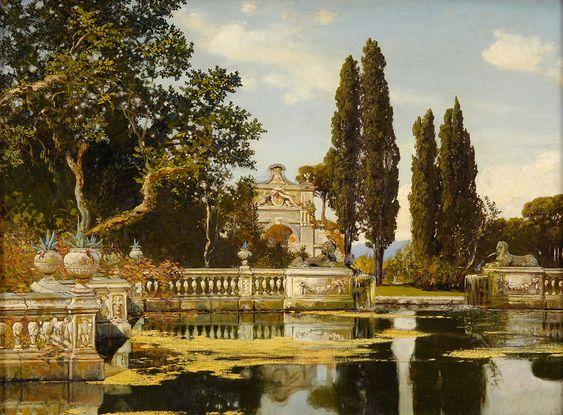 Max Roeder (1866-1947)  —   Park Landscape (880×649)
