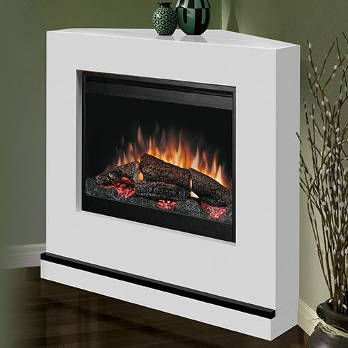 Dimplex Milan White Electric Fireplace Convertible Mantel