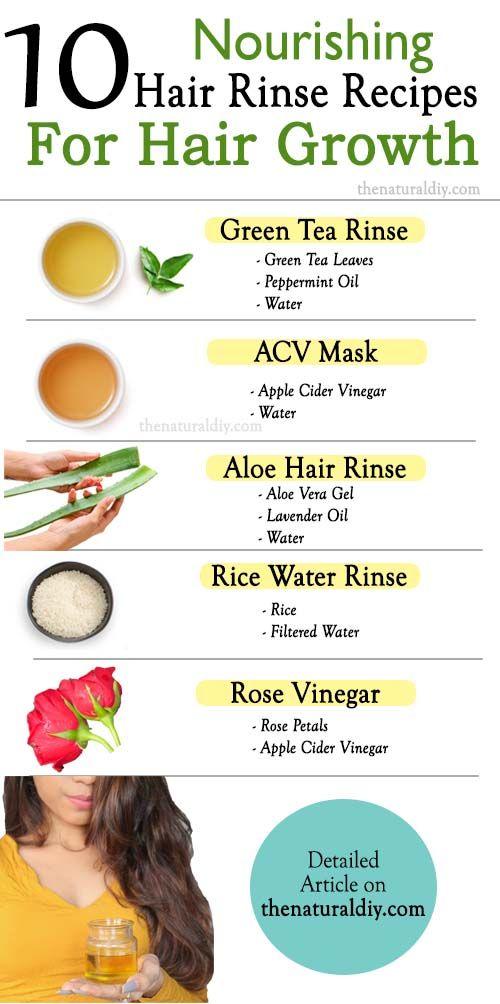 10 Hair Rinse Recipes For Hair Growth The Natural Diy Hair Rinse Recipe Hair Growth Foods Hair Rinse