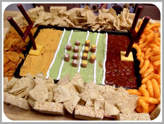 football stadium made out of snacks