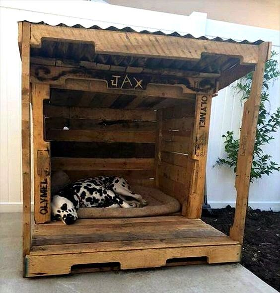 Amazing Dog Houses Made With Upcycled Wood Pallets Pallet Dog