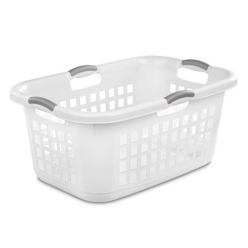 2 Bushel Capacity Single Laundry Basket White Room Essentials