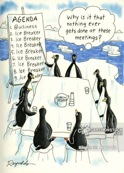 Penguins brainstorming no unique ideas all the same.