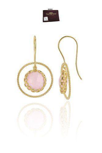 Charmee's 925 Sterling Gold Filled Dangle Earrings Rose Quartz CZ Bezel Set w/ Fish Hook Backs - Incl. ClassicDiamondHouse Free Gift Box & Cleaning Cloth ClassicDiamondHouse. $85.56. Be atrractive! Notice our natural gem jewelry that has high-end quality and design. What you see is what you get!! Grab one now!. These gorgeous items has attractive jewelry box . Refer image. Jewelry that make a statement day or night. Fabulous gemstone jewelries. This includes jewelry c...