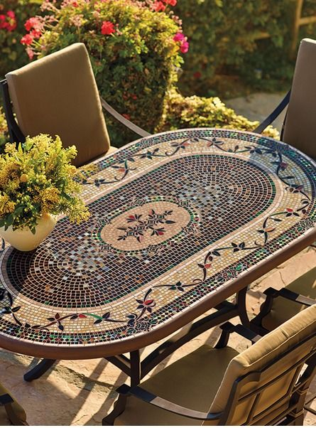 Dine in gorgeous, stained glass inspired beauty with the KNF - Neille Olson Mosaics Prague Collection; a stunning collection boasting breathtaking design and colors.