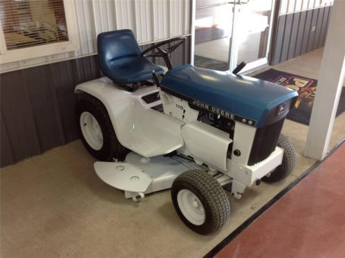 Attractive John Deere 110 Blue Patio Lawn Tractor Repainted | Blue Patio, Tractor And  Lawn