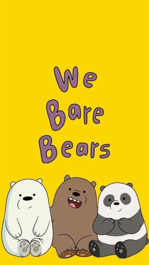 Bear Wallpaper Tumblr Wallpaper Iphone Wallpaper We Bare Bears Wallpaper Yellow Di 2020 Lucu Beruang Kutub Boneka Hewan