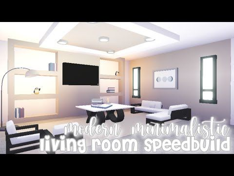 Modern Minimalistic Living Room Speed Build Roblox Adopt Me Youtube Futuristic Home Home Living Room Cute Living Room