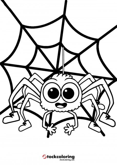 Itsy Bitsy Spider Coloring Page Spidercoloringpage