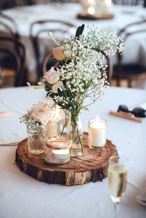 Image Result For Rustic Round Table Centerpieces Rustic Wedding