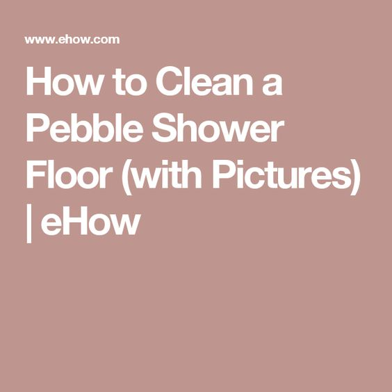 how to clean shower floor with bleach