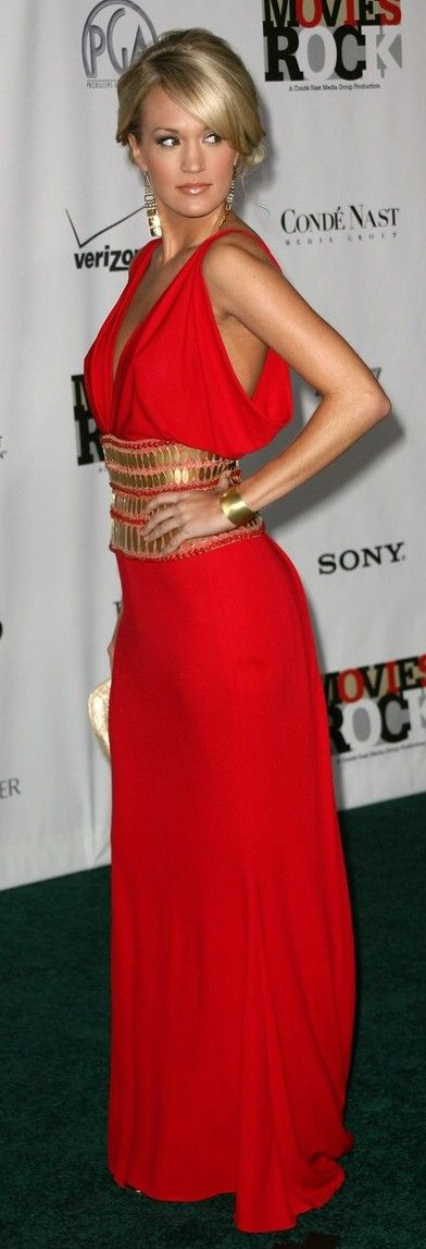red   lovely   carrie underwood
