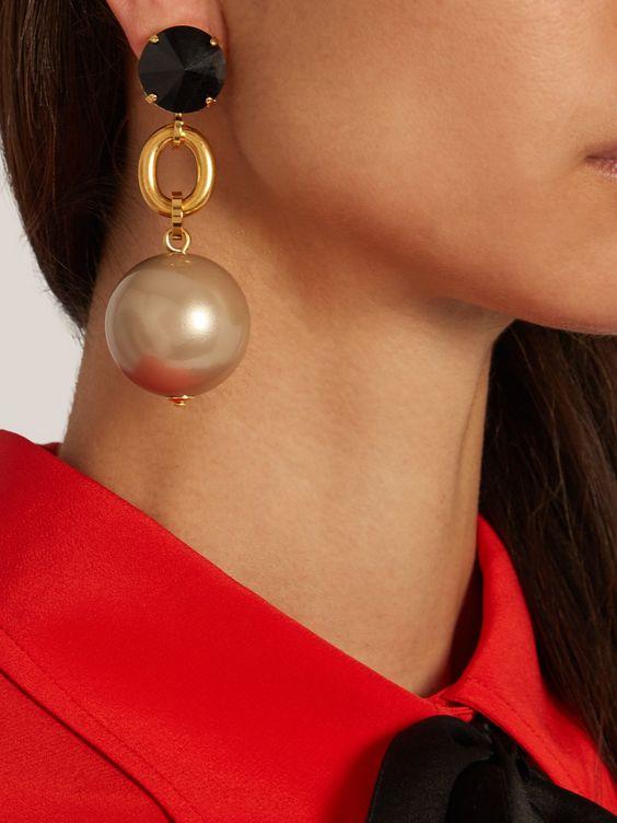 Ball-drop clip-on earrings   Marni   MATCHESFASHION.COM UK
