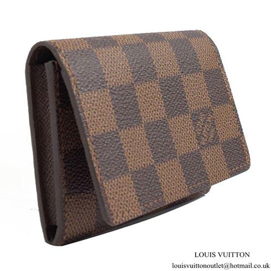 Louis Vuitton N62920 Business Card Holder Damier Ebene Canvas