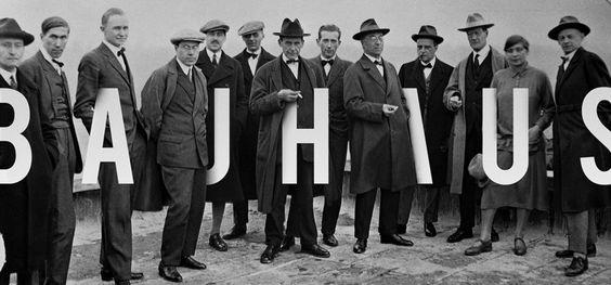 Masterminds of Bauhaus Movement - From left to right: Josef Albers, Hinnerk Scheper, Georg Muche, László Moholy-Nagy, Herbert Bayer, Joost Schmidt, Walter Gropius, Marcel Breuer, Wassily Kandinsky, Paul Klee, Lyonel Feininger, Gunta Stölzl, Oskar Schlemmer. December - 1926. © Hossein Albert Cortez