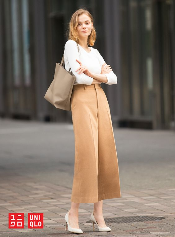 Strut through your day with confidence in our sophisticated Wool-Blend Wide-Leg Ankle Pants. Explore more seasonal favorites at uniqlo.com.