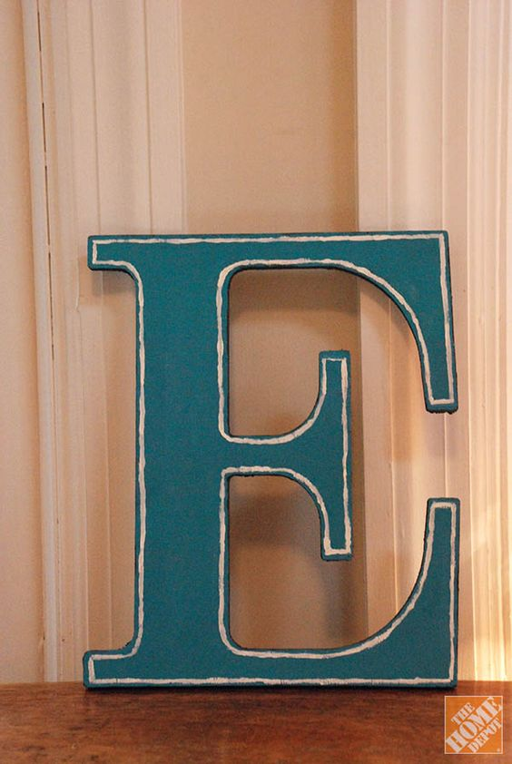 diy letter decor diy gift ideas decorated wooden letters the home depot 21385 | 8060d724306c5ad6e084fbdfa4aa40da