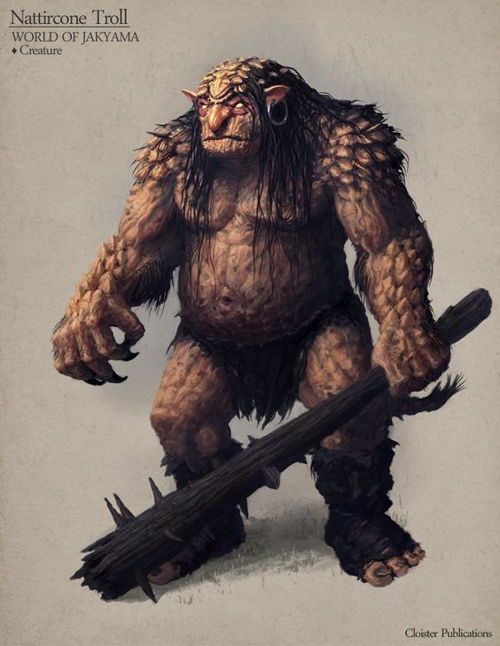 """infinitemachine: """" Monster of the Day: Nattircone Troll - Creature concept by Cloister """""""