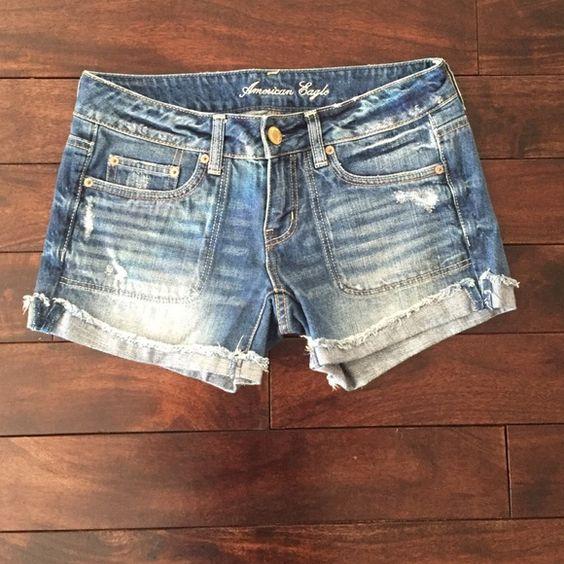 Jean shorts Size 4 American Eagle jean shorts American Eagle Outfitters Shorts Jean Shorts