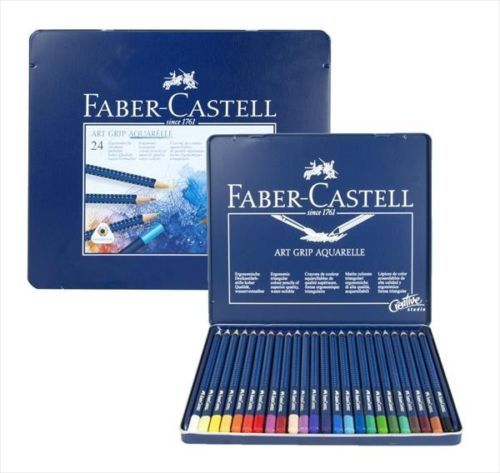 Art Pencils And Charcoal 28108 Faber Castell 24 Art Grip