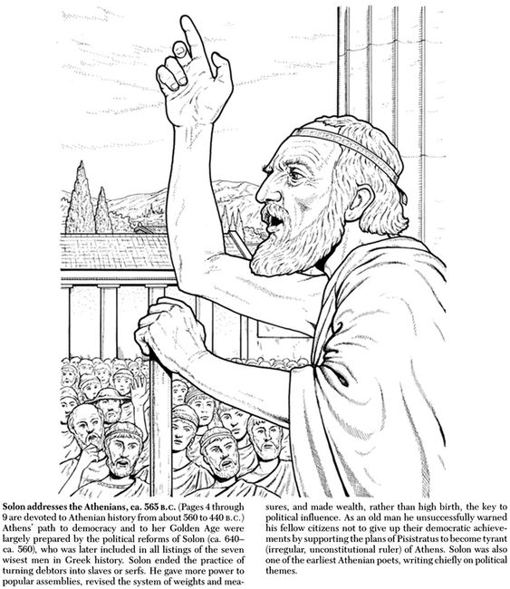 Life In Ancient Greece Coloring Book Coloring Pages Ancient Greek City Greek History