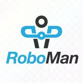 Exclusive Customizable Robotic Logo For Sale: Robo Man   StockLogos.com
