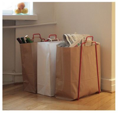 Recycling Bag Holder: I need to find/make one of these!