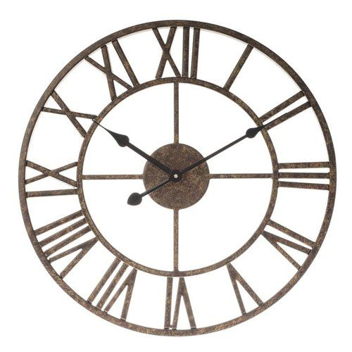 Brambly Cottage Hobson 40cm Wall Clock In 2020 Clock Metal Clock Wall