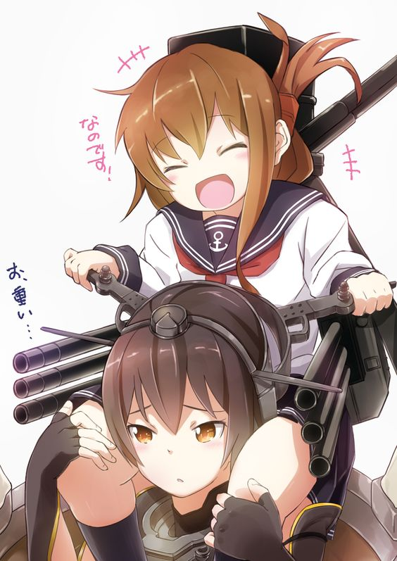 Anime,аниме,Suzumeko,Anime Art,Аниме арт, Аниме-арт,Nagato (Kantai Collection),Kantai Collection,KanColle,Inazuma (Kantai Collection)