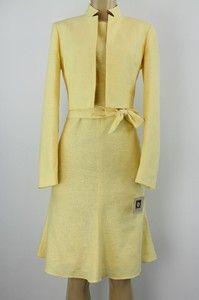 Anne Klein women dress suit &quotMarigold&quot dress jacket set yellow