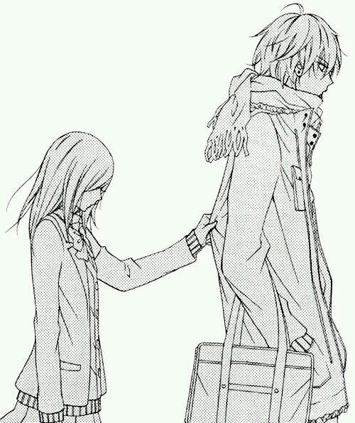 Second Photo Anime Lineart Anime Anime Love Couple