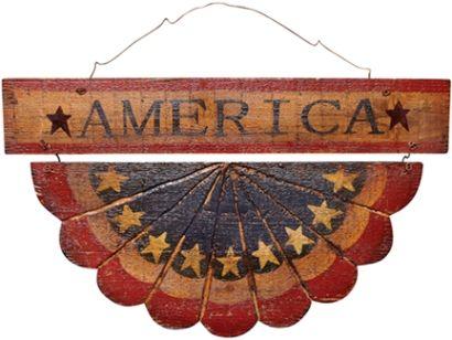 America Bunting Plaque
