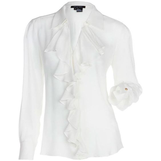 ETCETERA | Collections | Spring 2013 | Lookbook ❤ liked on Polyvore featuring tops, blouses, etcetera, oyster, shirts, white shirt blouse, white blouse, white shirt and white top