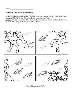 Arbeitsblatt Sankt Martin Im Herbststurm Skt Martin
