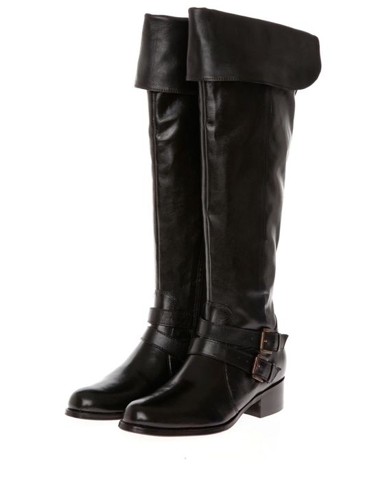 Product Name StyleMax Knee High Smooth Leather Boots Made in France at Modnique.com