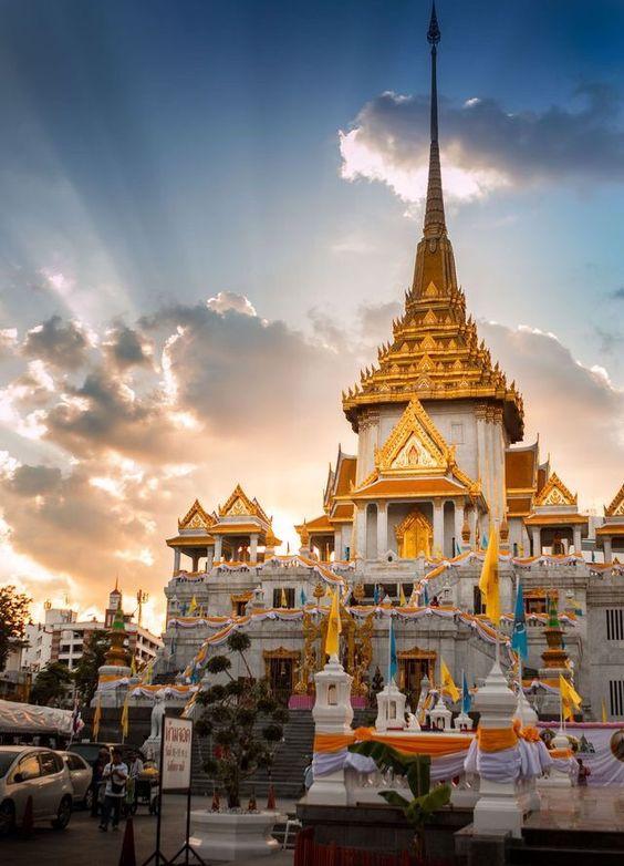 [Chia sẻ] Du lịch Wat Traimit hay còn gọi là chùa Phật Vàng, Bangkok, Thái Lan