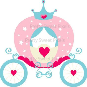 40% OFF Princess Carriage, Castle & Crown #2-Girl Vector graphics,clipart,digital clip art,digital images,instant download. PSPCAP-0015