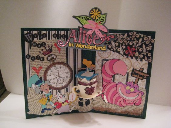 Would be cute on my desk alice in wonderland collage by Alice and wonderland art projects