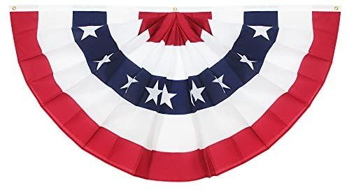 Amazon Com Anley Usa Pleated Fan Flag 1 5x3 Ft American Us Bunting Flag Patriotic Stars Stripes Shar In 2020 Patriotic Stars Bunting Flags Patriotic Decorations
