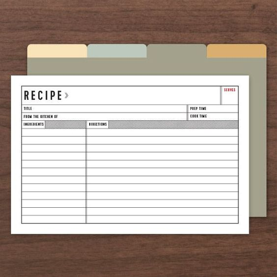 Printable editable recipe cards comes with front and back along with dividers printables for Editable recipe card