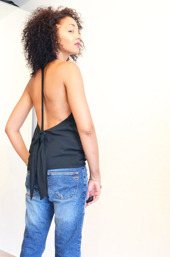 #mercredie #blog #blogger #mode #fashion #wear #it #like #me #wilm #projet #blogueuses #bloggeuses #virginie #castaway #backless #top #back #less #jean #Boyfriend #noeud #asos #black #afro #hair #curls #curly #nappy #natural