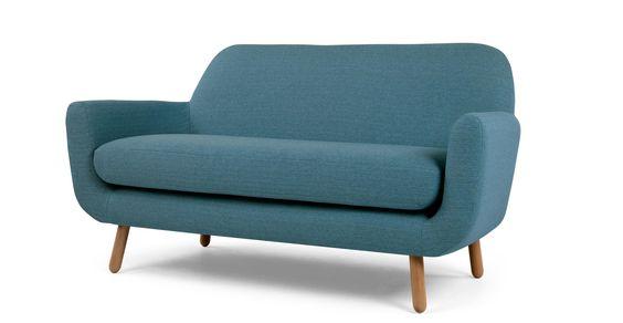 Jonah, canapé 2 places, bleu marine  84 x 162 x 89 cm