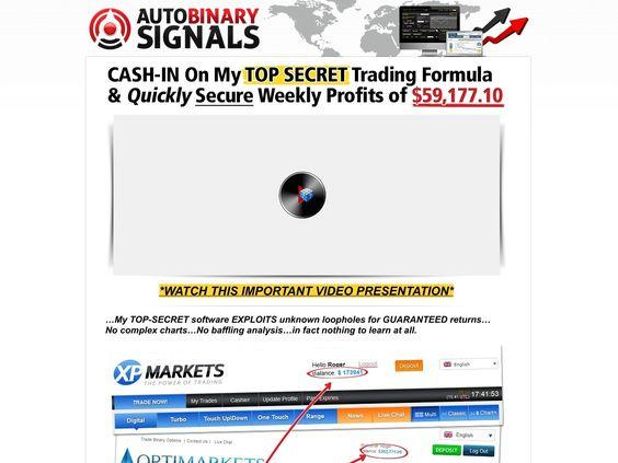 Autobinarysignals the #1 binary options trading software