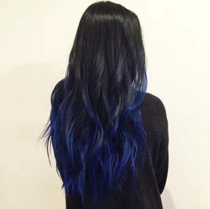 Trendy Nails Blue Black Long Hair 22 Ideas Hair Color For Black Hair Blue Ombre Hair Black Hair Ombre