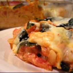 Baked Spaghetti with Fresh Basil and Smoked Mozzarella on BigOven: Great flavor, and easy to make!  This is perfect the way it is, but would also be great with some summer squash and/or zucchini.